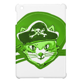 pirate cat cartoon style case for the iPad mini