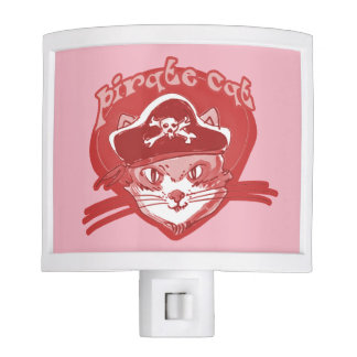 pirate cat cartoon style funny illustration nite lites