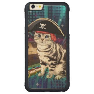 pirate cat carved® maple iPhone 6 plus bumper case