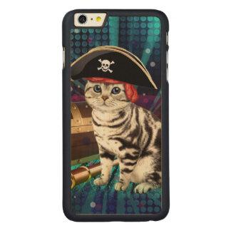 pirate cat carved® maple iPhone 6 plus case