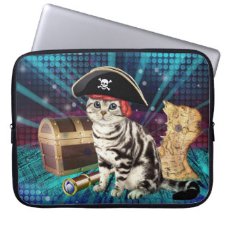 pirate cat computer sleeve