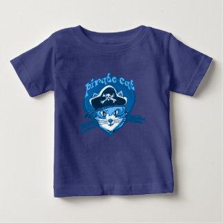 pirate cat funny cartoon baby T-Shirt
