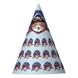 pirate cat funny cartoon party hat