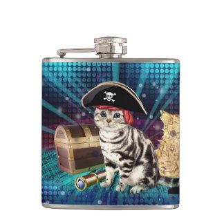 pirate cat hip flask