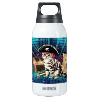 pirate cat insulated water bottle