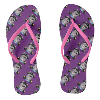 Pirate cat of Caribbean beach sandal Flip Flops