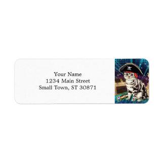 pirate cat return address label