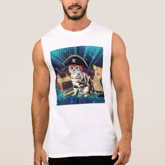 pirate cat sleeveless shirt