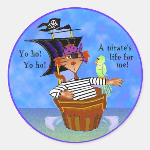 Pirate Cat Stickers