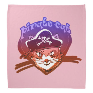 pirate cat sweet cartoon kerchiefs