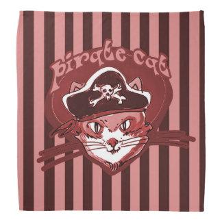 pirate cat sweet cartoon magenta tint stripes bandana