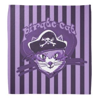 pirate cat sweet cartoon purple tint stripes do-rag