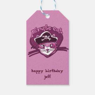 pirate cat sweet kitty cartoon gift tags