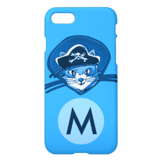 pirate cat sweet kitty cartoon monogram iPhone 8/7 case