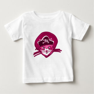 pirate cat sweet kitty purple tint cartoon baby T-Shirt