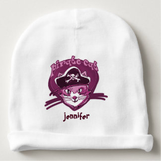 pirate cat sweet kitty with pirate hat cartoon baby beanie