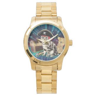 pirate cat wrist watch