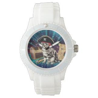 pirate cat wristwatches
