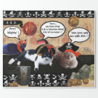 PIRATE CATS AND ANTIQUE PIRATES TREASURE MAPS WRAPPING PAPER