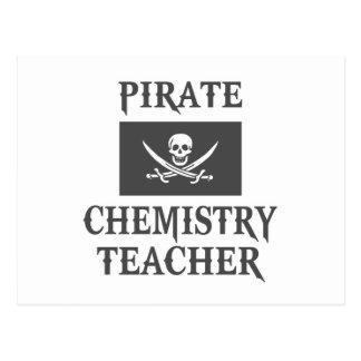 Pirate Chemistry Teacher Post Card