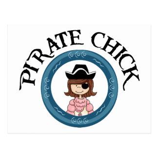 Pirate Chick Postcard