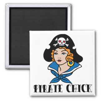 Pirate Chick Tattoo Magnet