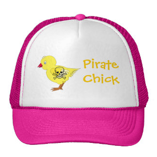 Pirate Chick Trucker Hat