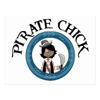 Pirate Chick With Sword Postcard