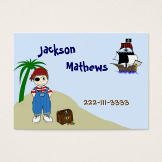 Pirate Children's Calling Card