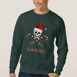 Pirate Christmas Jolly Roger Sweatshirt