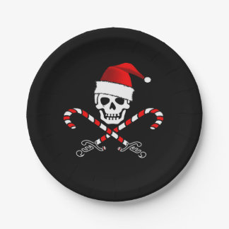 Pirate Christmas Party Paper Plate