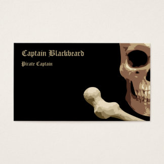 Pirate Club - Skull and Crossbones Business Card