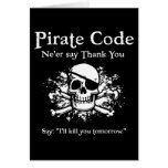 Pirate Code: Thank You Greeting Card