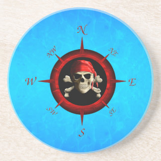 Pirate Compass Rose Coaster