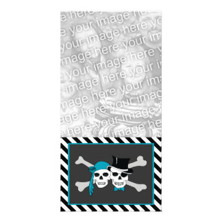 pirate couple photo card template