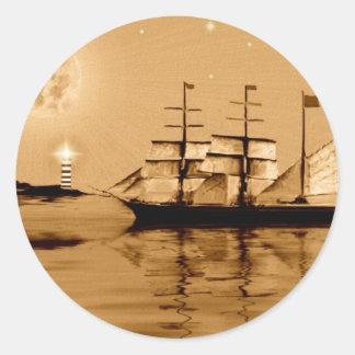 Pirate Cove Round Sticker