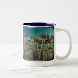 Pirate Cranes_Twilight Beach Two-Tone Coffee Mug