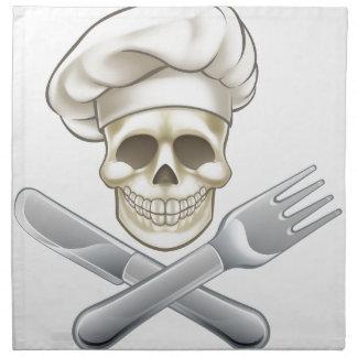 Pirate Crossbones Chef Cartoon Napkin