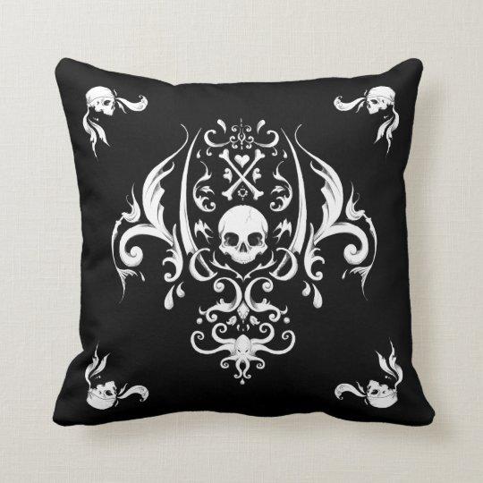 Pirate Damask Throw Pillow