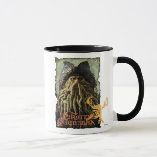Pirate Davy Jones with Skull Disney Mug