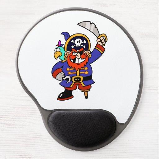 Pirate de bande dessinée avec la jambe et l'épée d tapis de souris gel