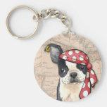 Pirate de Boston Terrier Porte-clés