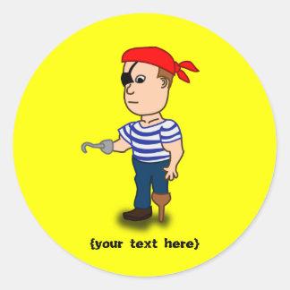 pirate de Cheville-jambe Sticker Rond