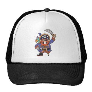 Pirate de gingembre avec le perroquet casquette de camionneur