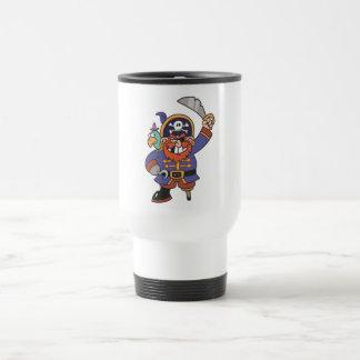 Pirate de gingembre avec le perroquet tasse à café