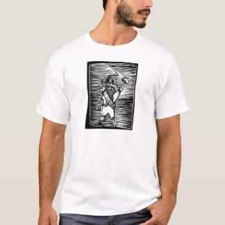 Pirate de gravure sur bois t-shirt
