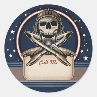 Pirate de l'espace avec les autocollants nommés