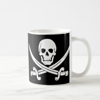 Pirate - Death Before Decaf Coffee Mug