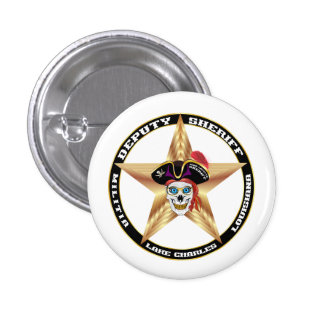 Pirate Deputy Sheriff  IMPORTANT Read About Design 1 Inch Round Button