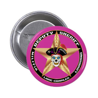Pirate Deputy Sheriff  IMPORTANT Read About Design 2 Inch Round Button